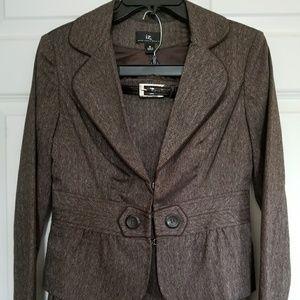 Brown blazer & skirt set